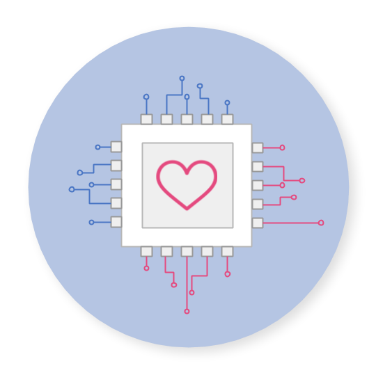 machine with heart in it, symbol for the Cruisewatch travel API service